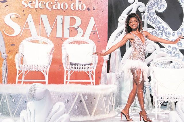 Erika Januza, rainha de bateria da Viradouro (Foto: TV Globo)