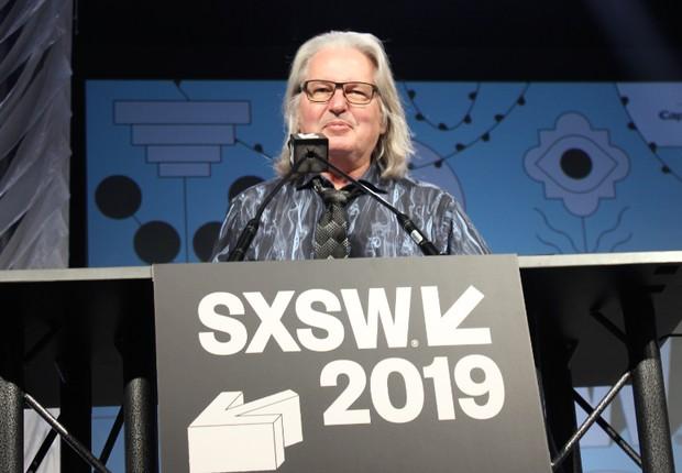 Bruce Sterling, escritor de ficção científica, durante o SXSW (Foto: Adriano Lira)