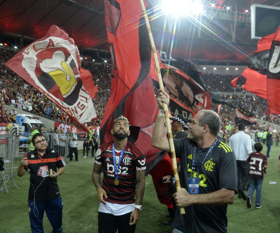 Flamengo comemora título do Brasileiro — Foto: André Durão