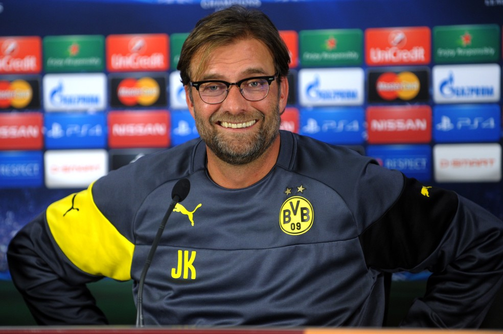 Passagem marcante de Klopp pelo Dortmund influenciou o torcedor brasileiro — Foto: AFP