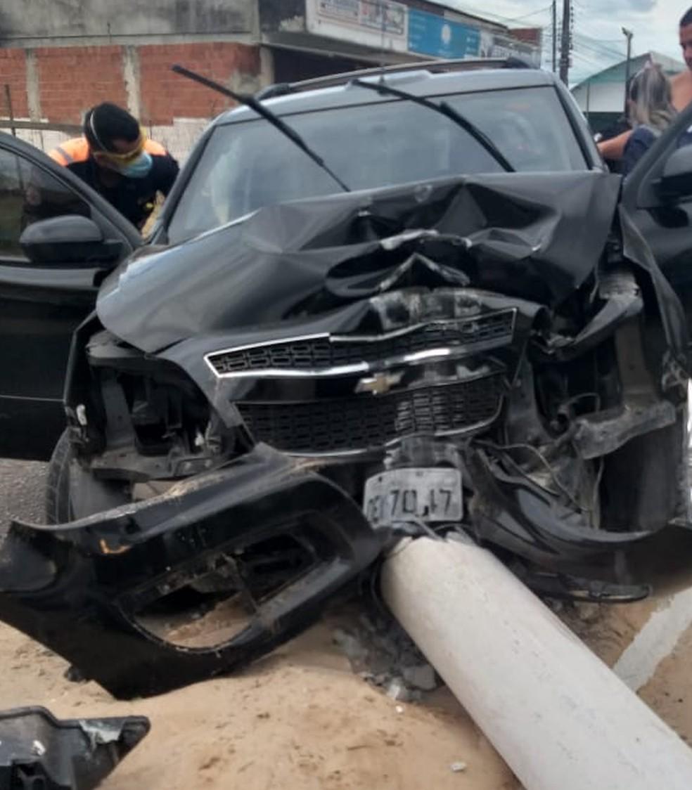 Acidente aconteceu na Avenida Doutor João Medeiros Filho — Foto: Guarda Municipal