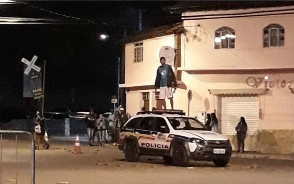 Ocorrência aconteceu durante festa junina em Rio Acima, na Região Metropolitana de BH. — Foto: Redes Sociais