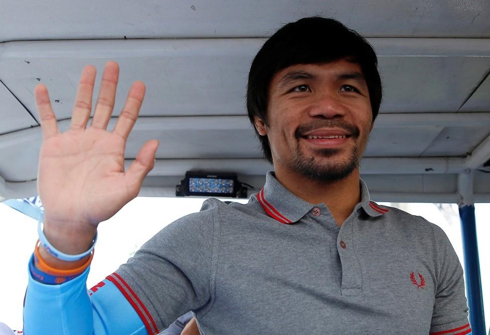 Boxeador Manny Pacquiao se declara candidato a presidente das Filipinas