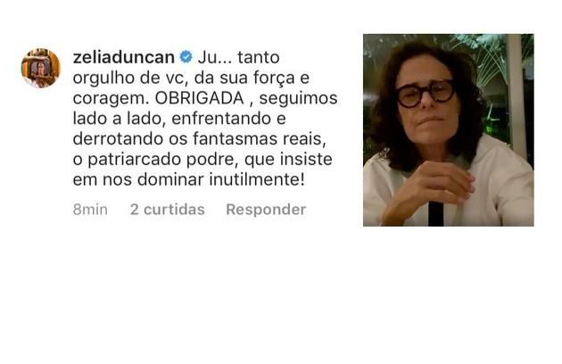 A cantora e atriz Zélia Duncan criticou o sistema patriarcal (Foto: Reprodução)