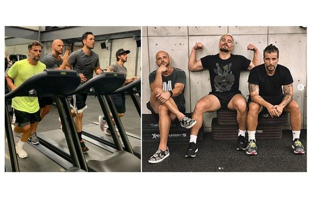 Bruno Gagliasso treinou com João Vicente de Castro, Chay Suede e Thiago Martins (Foto: Reprodução/Instagram)