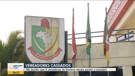 TRE-SC nega recurso de coligação e mantém cassação dos mandatos de 5 vereadores de Sombrio