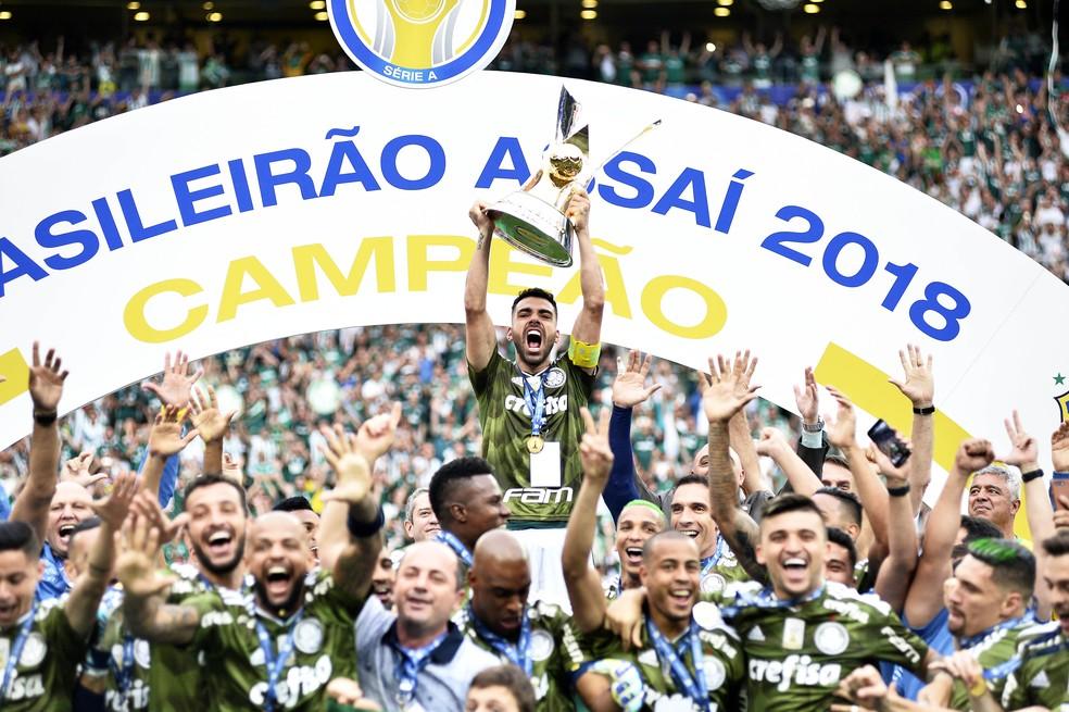 Palmeiras defende o título conquistado em 2018 — Foto: Marcos Ribolli