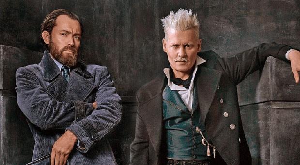Jude Law e Johnny Depp são Albus Dumbledore e Gellert Grindelwald (Foto: Reprodução )