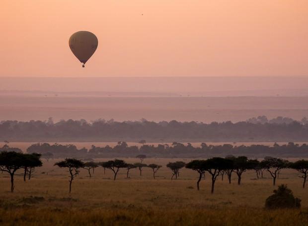 Passeio de balão na África (Foto: Divulgação)