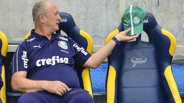 Felipão na partida contra o Flamengo