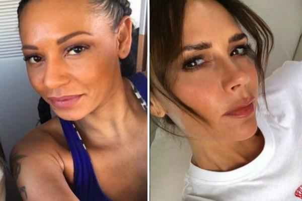 As cantoras e ex-Spice Girls Mel B e Victoria Beckham (Foto: Reprodução Instagram)