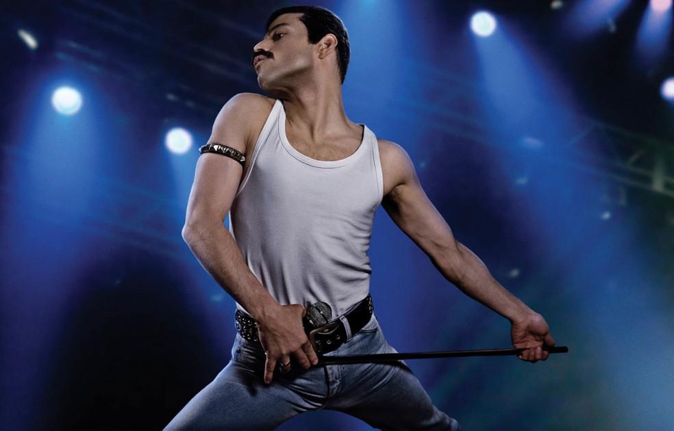 Rami Malek interpreta Freddie Mercury em 'Bohemian Rhapsody' — Foto: Divulgação