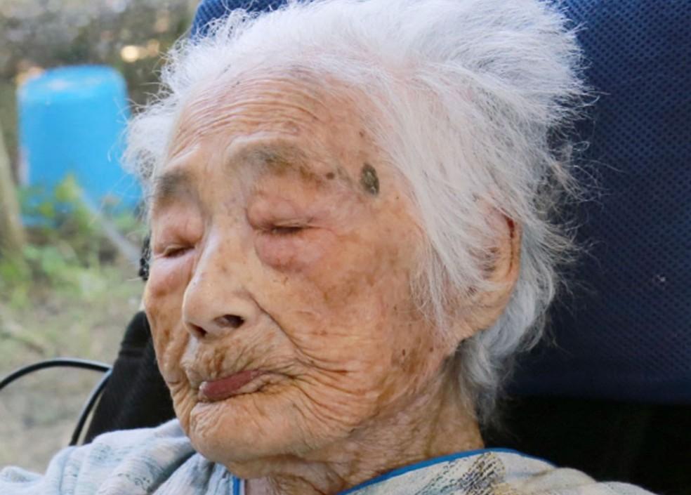 Nabi Tajima em foto de setembro de 2015 (Foto: Kikai Town/Kyodo News via AP)