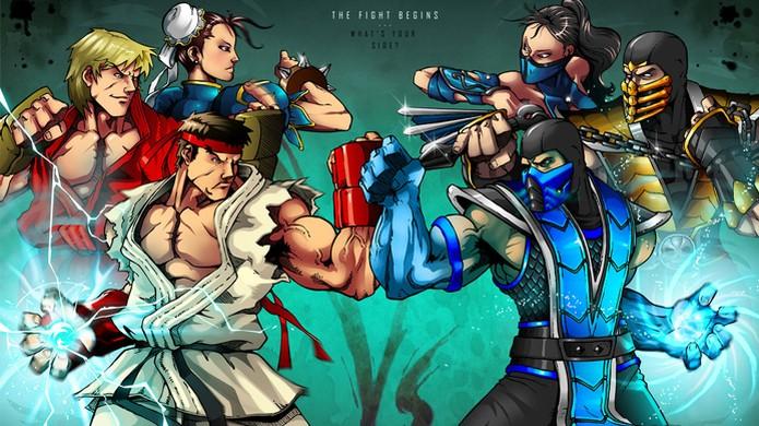 Mortal Kombat e Street Fighter se enfrentam há anos na mente dos fãs.  (Foto: Divulgação)