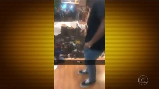 Chão desaba durante festa de estudantes de uma universidade na Carolina do Sul