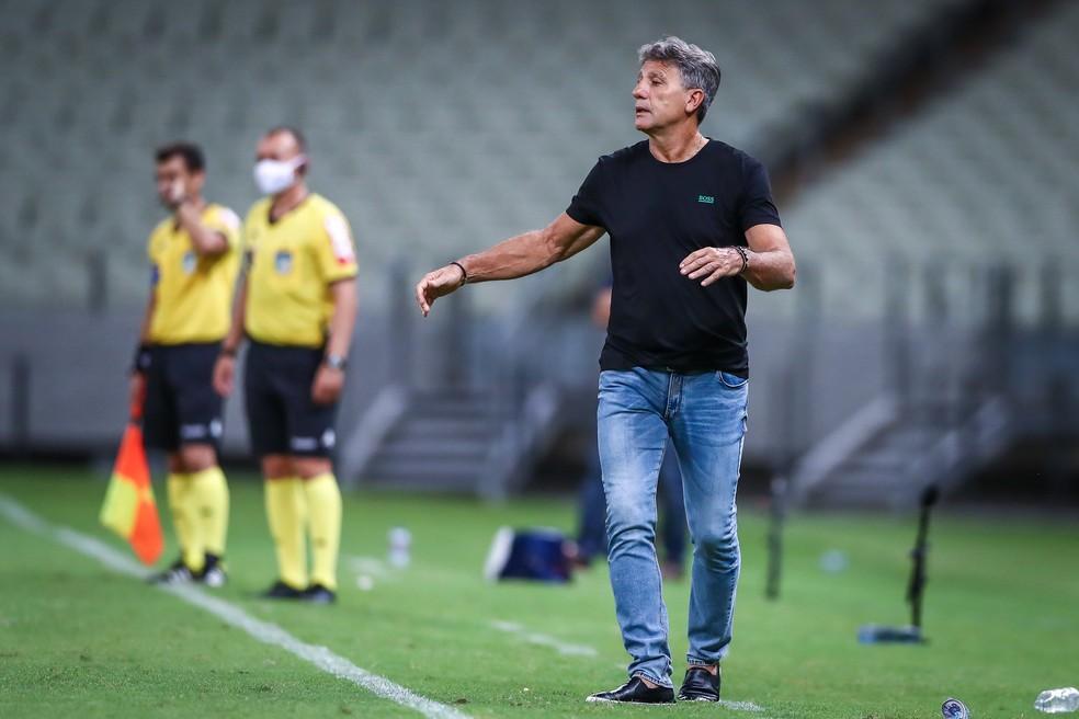 Renato Portaluppi em Fortaleza 0x0 Grêmio — Foto: Lucas Uebel/DVG/Grêmio
