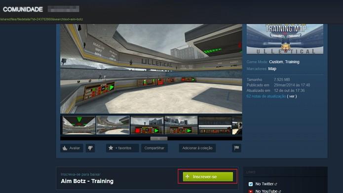 Veja como baixar melhores mapas para treinar mira no CS:GO