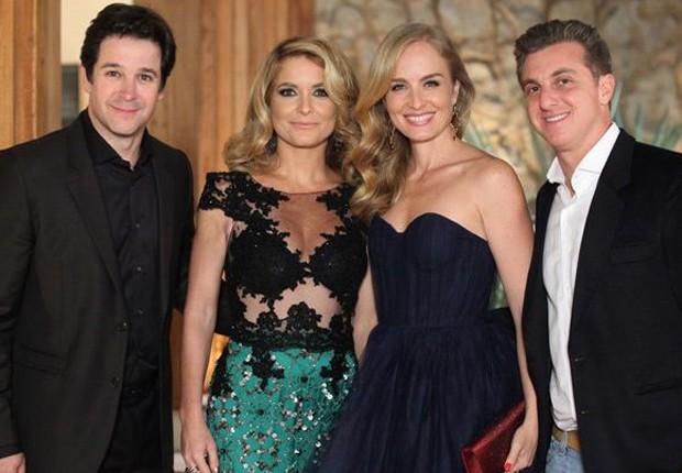 Murilo Benício, Cláudia Abreu, Angélica e Luciano Huck em 'Geração Brasil' (Foto: Divulgação/TV Globo)