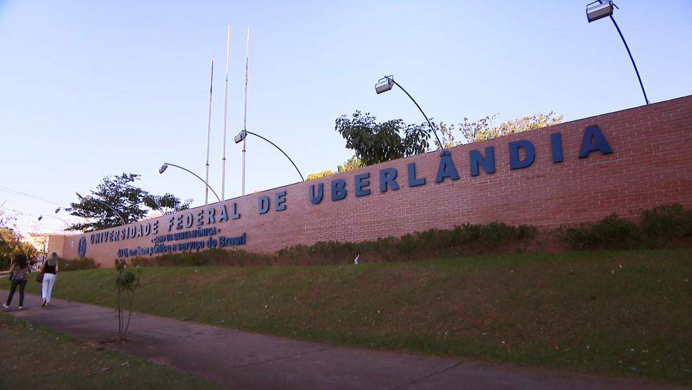 Fachada da Universidade Federal de Uberlândia — Foto: Reprodução/TV Integração