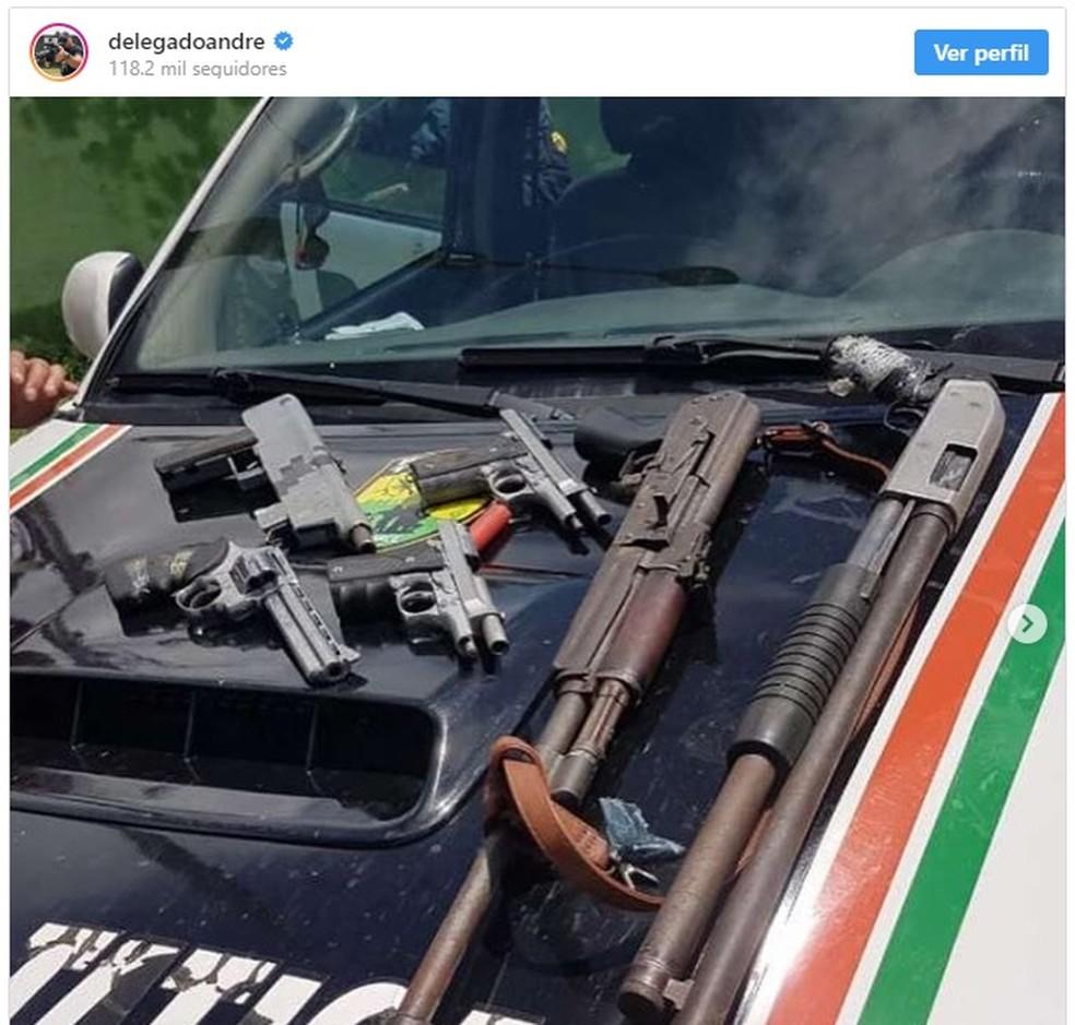 Criminoso usou perfil do secretário da Segurança do Ceará para fazer ameaças — Foto: Reprodução