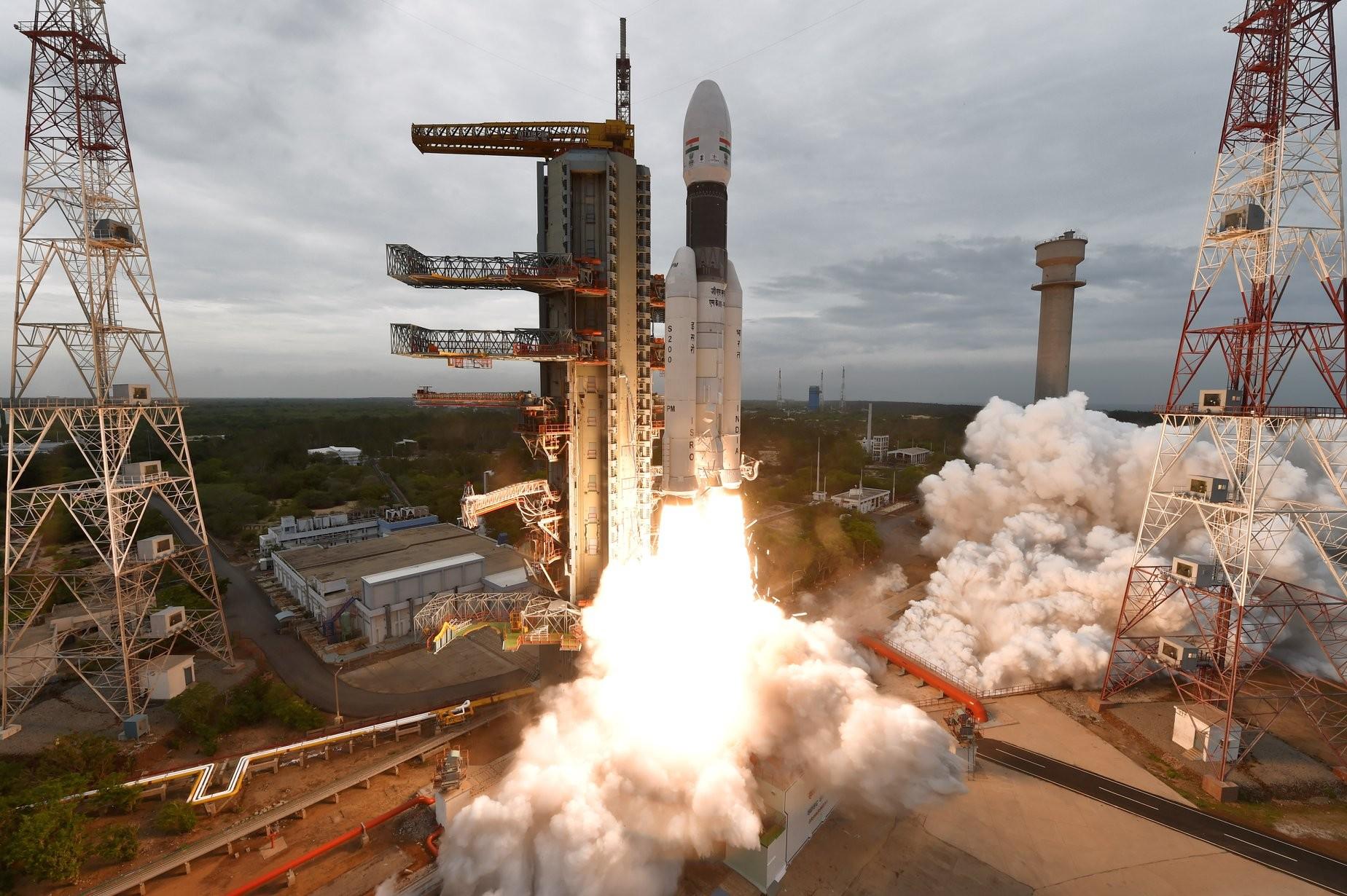 Chandrayaan-2 foi lançada em 22 de julho de 2019 da plataforma Sriharikota, no sul da Índia (Foto: Divulgação ISRO)