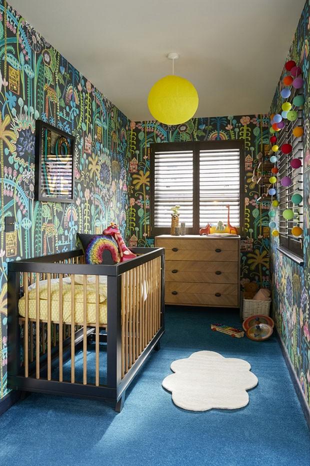 Décor do dia: quarto de criança com papel de parede (Foto: Divulgação/Reprodução)