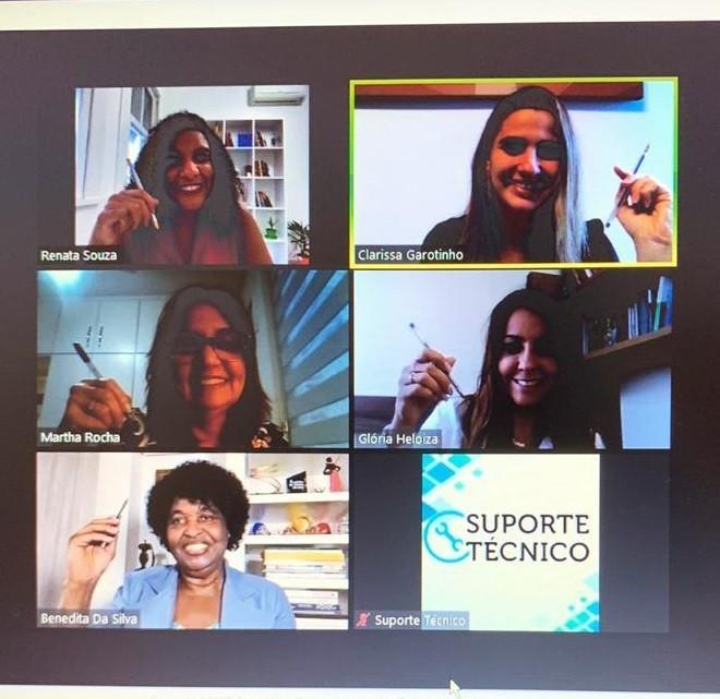 A videoconferência que reuniu as candidatas à prefeitura do Rio