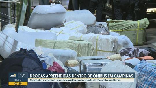 Polícia e ANTT apreendem 100 kg de drogas com passageiro de ônibus na Rodovia Dom Pedro I