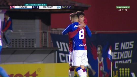 Paraná 2x1 São Bento: veja os gols e os melhores momentos do jogo da 35ª rodada