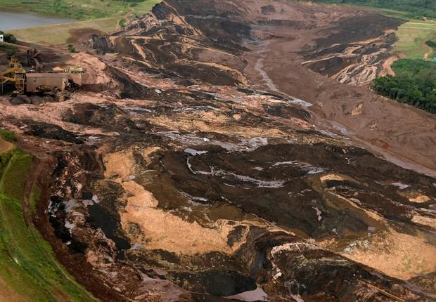 Rompimento de barragem da mina de Feijão, da Vale, em Brumadinho (Foto: REUTERS/Washington Alves)