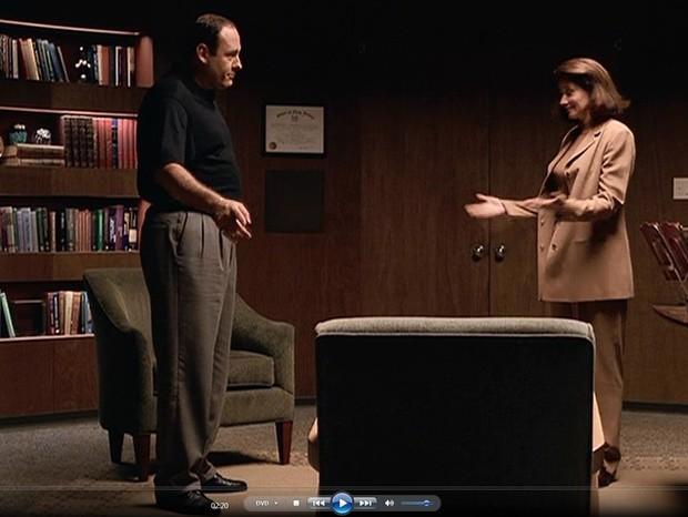Tony Soprano e Dra Melfi (Foto: reprodução)