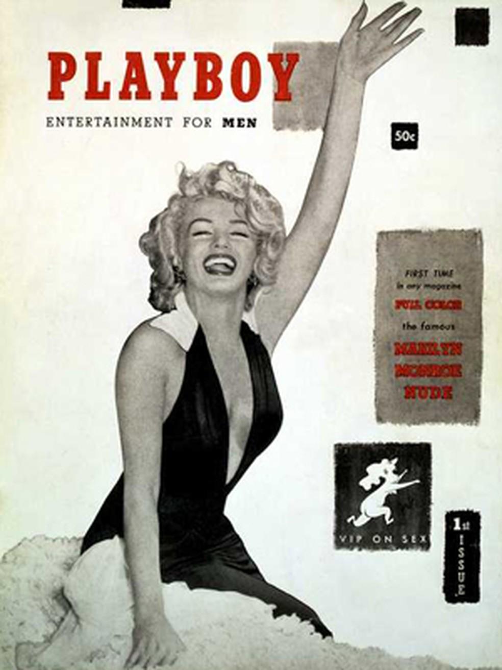 Playboy, revista lançada em 1953 com uma capa sexy de Marilyn Monroe (Foto: Reprodução)