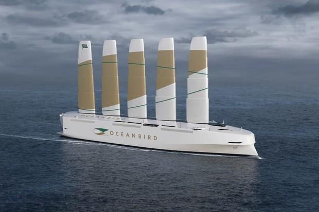Maior navio movido a energia eólica do mundo pode levar 7 mil veículos