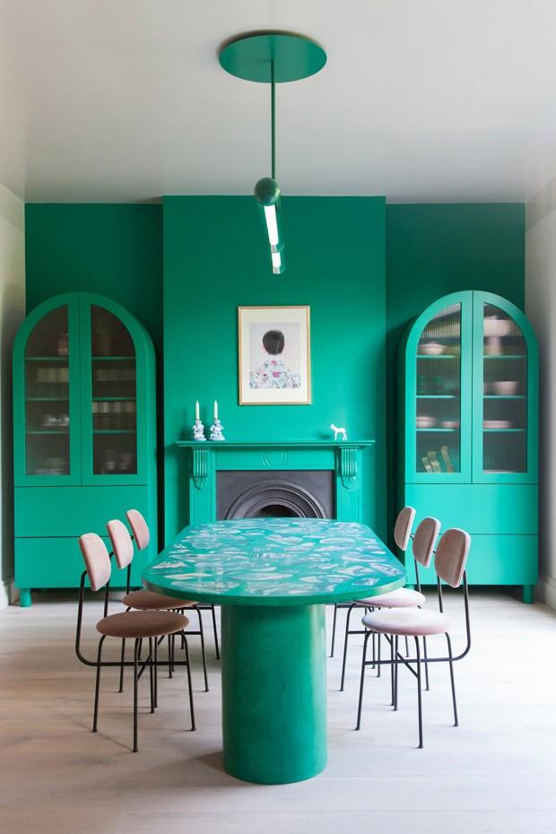 Décor do dia: sala de jantar com decoração monocromática (Foto: Divulgação)