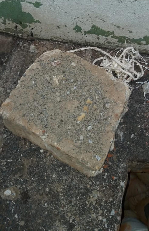 Buraco foi encontrado na cela 3 do raio 1 — Foto: Divulgação
