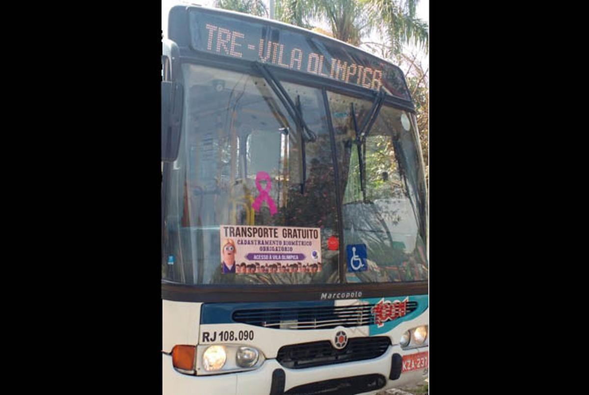 Eleitores de Rio das Ostras, RJ, têm ônibus gratuito para fazer cadastro de biometria
