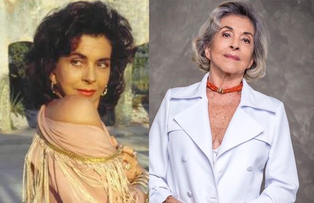 Betty Faria fez tanto sucesso na pele da protagonista que, na época, lançou uma coleção de roupas da personagem assinada por ela. Aos 79 anos, ela segue trabalhando e, recentemente, fez uma participação em 'Salve-se quem puder' (Foto: TV Globo)