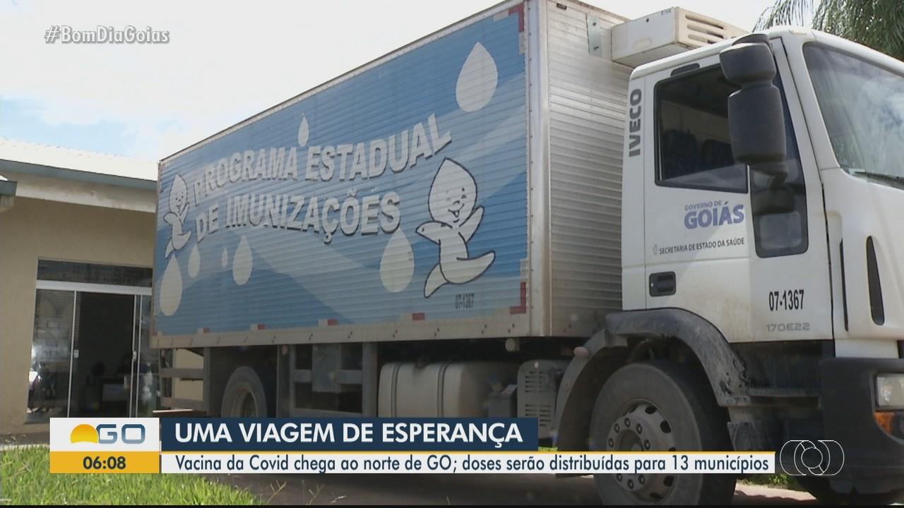 Vacina contra Covid-19 chega a 13 municípios no norte de Goiás