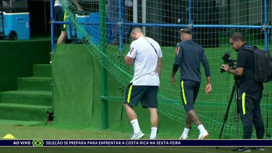 Neymar deixa treino com dores no tornozelo; CBF diz que ele não preocupa