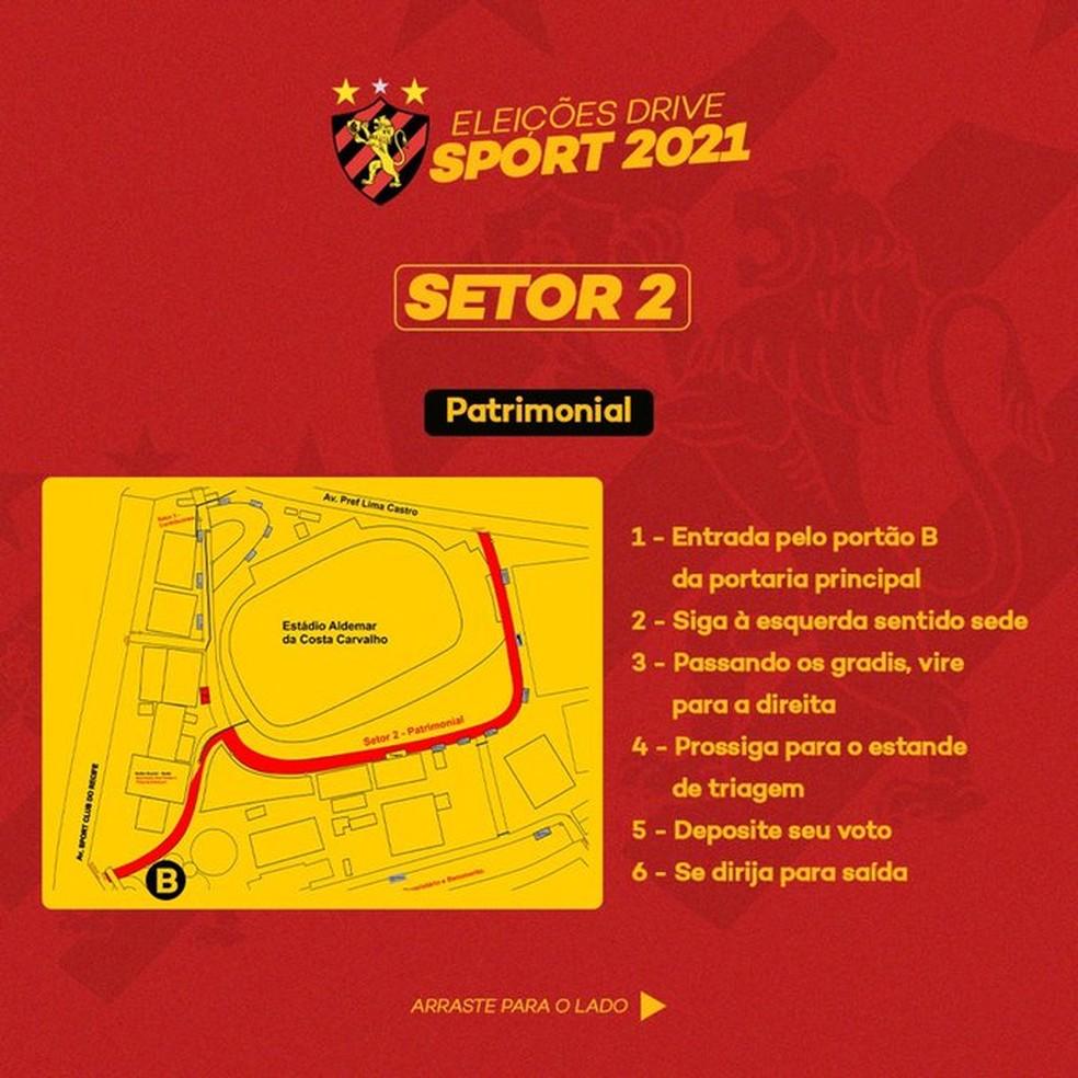 Setor 2: Eleições Sport — Foto: Reprodução