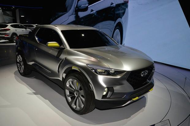 Hyundai Santa Cruz no Salão de Nova York 2015 (Foto: Newspress)