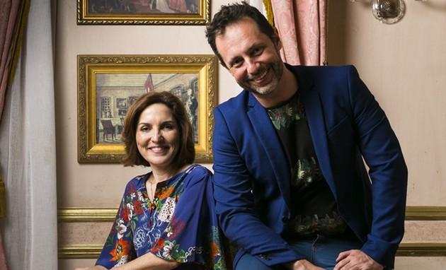 Thereza Falcão e Alessandro Marson, autores da Globo (Foto: TV Globo / Raquel Cunha))