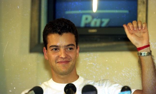 Eduardo Eugênio Filho em entrevista após sua libertação no dia 2 de de dezembro de 1995