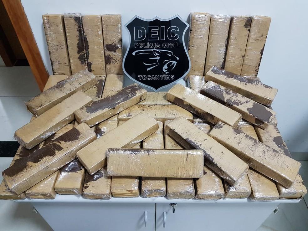 Polícia apreendeu 25 quilos de maconha em Gurupi — Foto: Divulgação/Polícia Civil