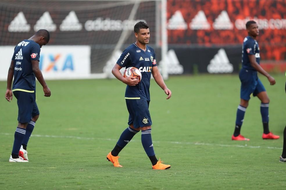 Ederson quando era jogador do Flamengo — Foto: Gilvan de Souza / Flamengo