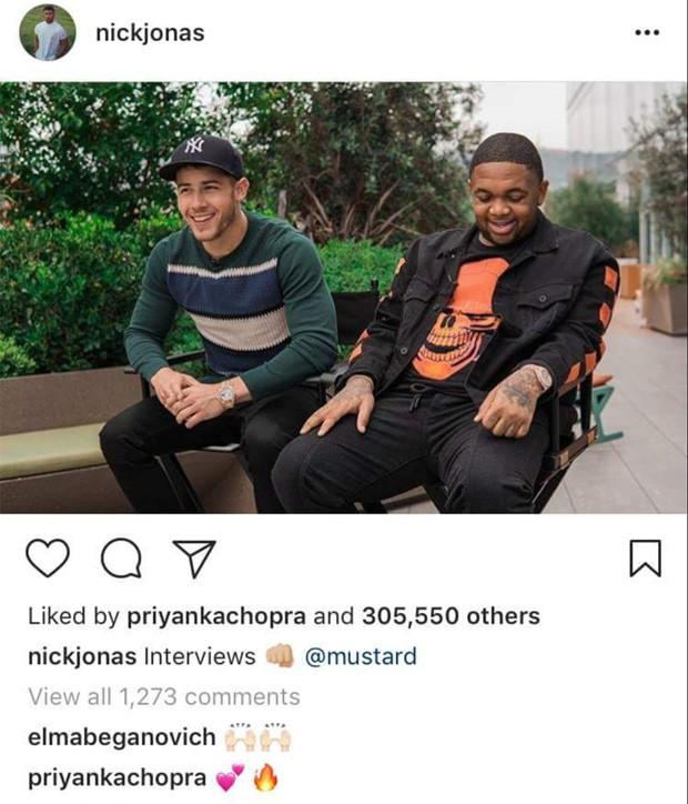 Priyanka Chopra comenta foto de Nick Jonas (Foto: Reprodução/Instagram)