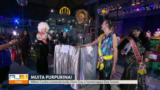 Baile 'Glam Gay' na quadra da Vila Isabel homenageia a cantora Elza Soares