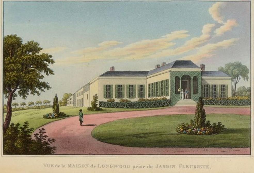 Longwood House, onde Napoleão morreu aos 52 anos de idade — Foto: Getty Images/BBC