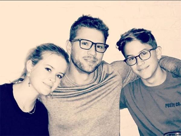 Ryan Phillippe com os filhos Ava e Deacon (Foto: Instagram)