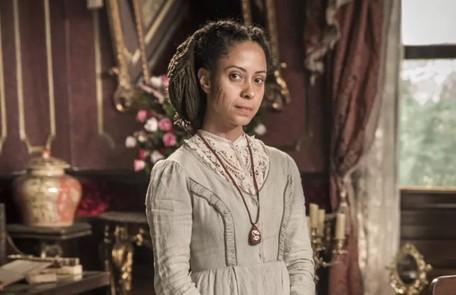 Na terça-feira (5), Justina (Cinara Leal) chamará Pilar (Gabriela Medvedovski) para cuidar de Luísa. Após perder o bebê e ser salva, a condessa revela seu grande segredo: que é amante de Dom Pedro II (Selton Mello) TV Globo